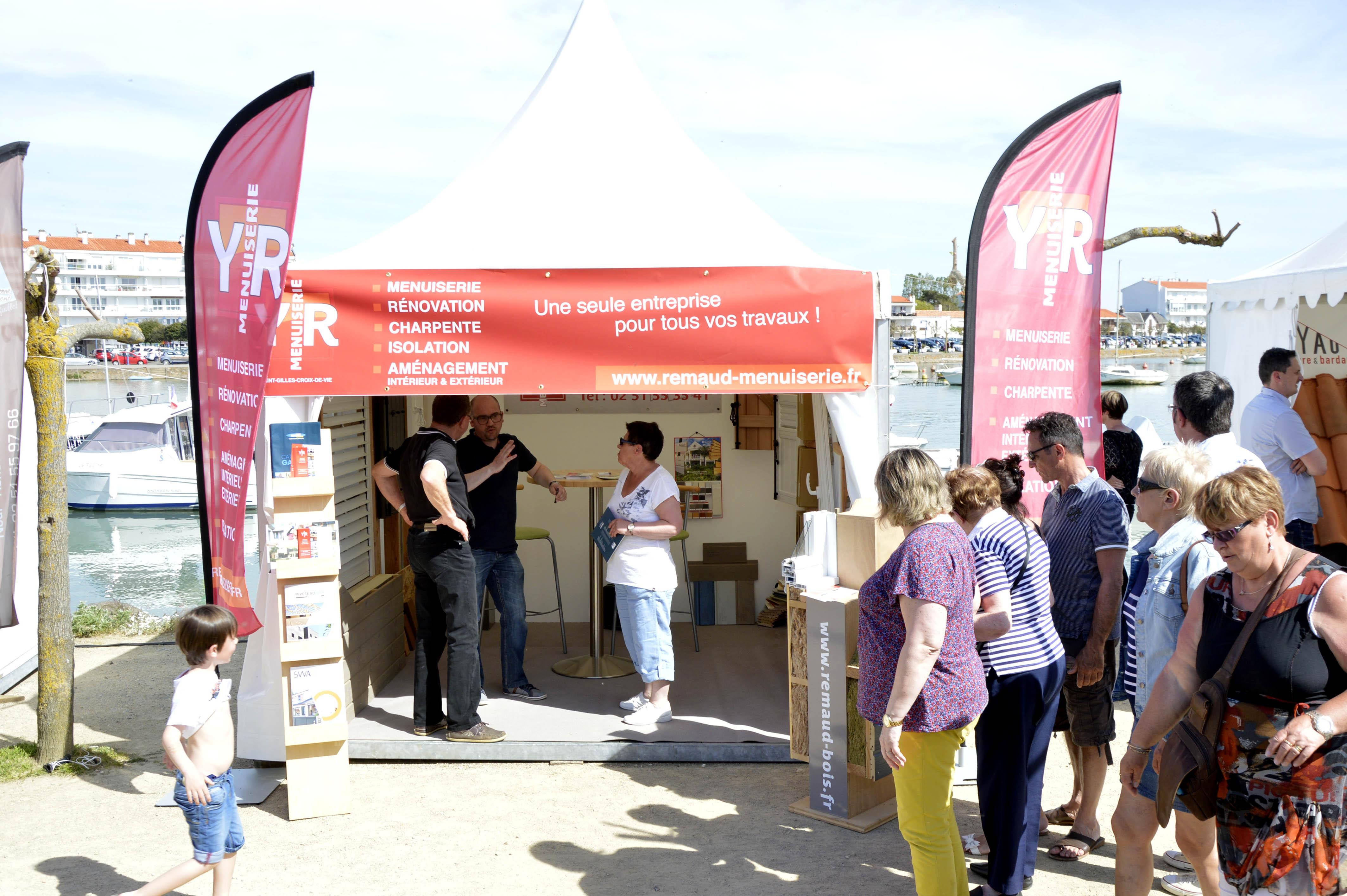 Foire expo de saint gilles croix de vie yannick remaud for Stand pour foire expo