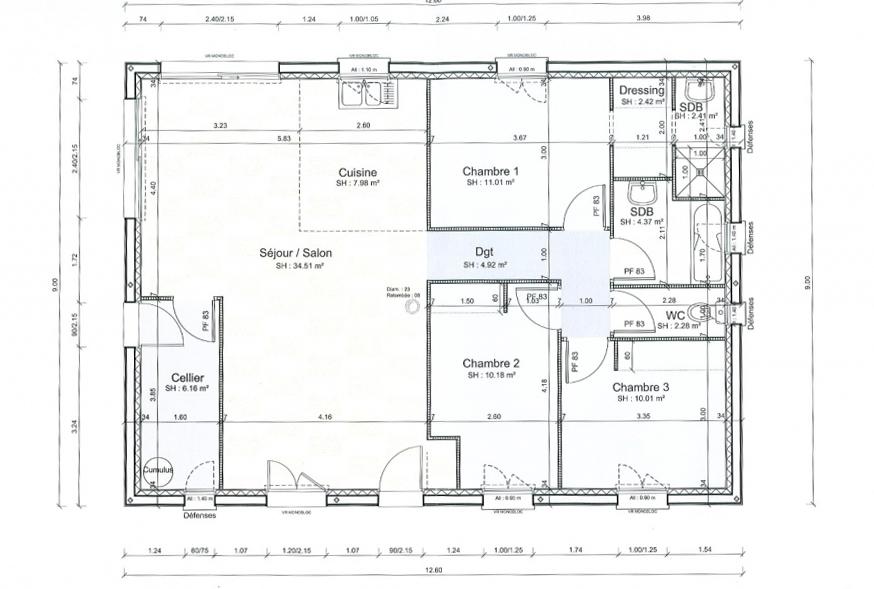 1plan Interieur Maison En Plan De Maison Interieur Yr Menuiserie Saint Gilles Croix De Vie